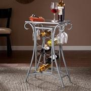 SEI Newnan Wine Rack Table - Silver (OC1514)