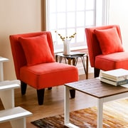 SEI Holly & Martin Purban Slipper Chairs - Red/Orange - 2 Piece (UP1017)