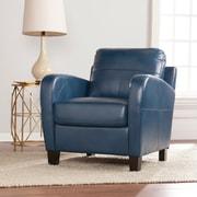 SEI Bolivar Faux Leather Lounge Chair - Royal Blue (UP9601)