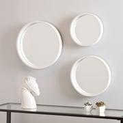 SEI Holly & Martin Daws Wall Mirror - White - 3 Piece Set (WS4528)