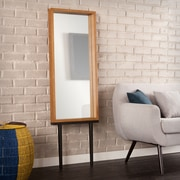 SEI Holly & Martin Sawa Leaning Mirror - Weathered Gray (WS4713)