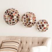 SEI Jessalyn Metal Sphere Wall Sculptures - 3 Piece Set (WS8913)