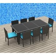 Urban Furnishings 9 Piece Dining Set; Sea Blue