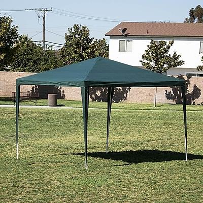 Belleze 10 Ft. W x 10 Ft. D Canopy; Green WYF078279514499