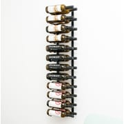 VintageView Wall Series 24 Bottle Wall Mounted Wine Rack; Satin Black