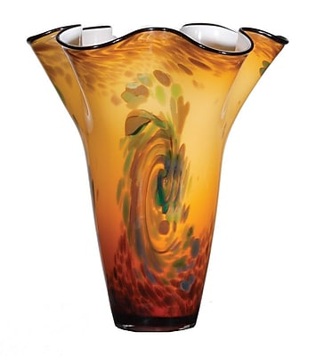 OK Lighting Ambre Vortex Glass Vase WYF078279526974