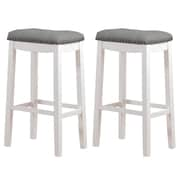 Angel Line Cambridge 29'' Bar Stool w/ Cushion (Set of 2)