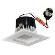 ElcoLighting Square Insert Square Baffle 4'' LED Recessed Lighting Kit; White