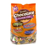 Milky Way, Twix, 3 Musketeers and Snickers Fun Size Variety Mix, 60 Pieces/Bag
