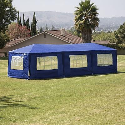 Belleze 10 Ft. W x 30 Ft. D Canopy; Blue WYF078279529007