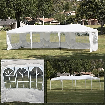 Belleze 10 Ft. W x 30 Ft. D Canopy; White WYF078279529009