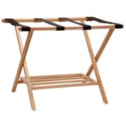 Household Essentials Bamboo Luggage Rack w/ Tray