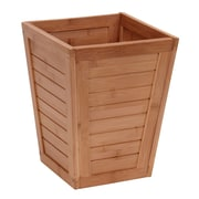 Household Essentials 2.9-Gal Bamboo Slat Trash Can