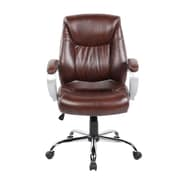 United Chair Industries LLC High-Back Executive Chair; Brown