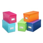 Whitmor, Inc Plastic Storage Box (Set of 5)