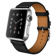iPM Luxury Genuine Leather Watch Strap Replacement Band-38mm-Black (ICEWA2738BK)
