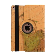 "iPM 360-Degree Rotary Stand Leather Case for iPad Pro (9.7"")-Vintage Map-Yellow (IPADGEO9YMP)"