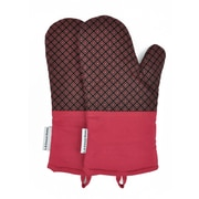 L.A Sweet Home Oven Mitt (Set of 2); Red