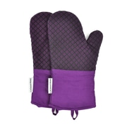 L.A Sweet Home Oven Mitt (Set of 2); Purple