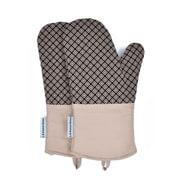 L.A Sweet Home Oven Mitt (Set of 2); Khaki