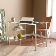 SEI Oslo Chrome/Glass Computer Desk (HO8529)