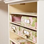 SEI  Anna Griffin Craft Room Paper Bin Storage Organizer - White (HZ4922)