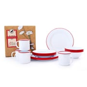 Crow Canyon Home Starter 16 Piece Dinnerware Set; Red