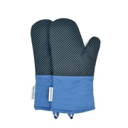 L.A Sweet Home Waffle Oven Mitt (Set of 2); Blue