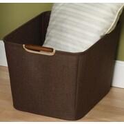 Household Essentials Tapered Storage Bin w/ Wood Handle; Medium