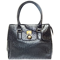 Vecceli Italy Fine Faux Ostrich Embossed Leather Handbag (Multiple Colors)