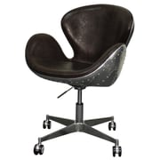 New Pacific Direct Duval Mid-Back Desk Chair; Distressed Java