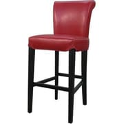 New Pacific Direct Bentley 30 inch Bar Stool w/ Cushion; Red by