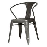 New Pacific Direct Metropolis Arm Chair (Set of 4); Gunmetal