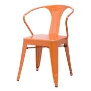 New Pacific Direct Metropolis Arm Chair (Set of 4); Orange