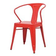 New Pacific Direct Metropolis Arm Chair (Set of 4); Red