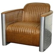 New Pacific Direct Easton Club Chair; Distressed Caramel