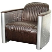 New Pacific Direct Easton Club Chair; Distressed Java
