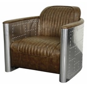 New Pacific Direct Easton Club Chair; Distressed Mocha