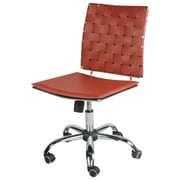 New Pacific Direct Fitz Leather Desk Chair; Cognac