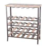 Laurel Foundry Modern Farmhouse Amory 24 Bottle Floor Wine Rack