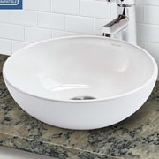 DECOLAV Classically Redefined Round Above Counter Vessel Lavatory Sink w/ Overflow