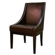 New Pacific Direct Houston Bonded Leather Side Chair; Mocha