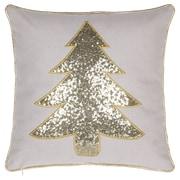 14 Karat Home Inc. Christmas Tree Throw Pillow; Gold