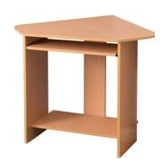 Fineboard Corner Computer Desk w/ Keyboard Tray; Beige
