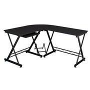 Fineboard Keyboard Tray L-Shape Writing Desk; Black
