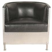 New Pacific Direct Tanner Vinyl Barrel Chair