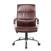 United Chair Industries LLC Mid-Back Executive Chair; Brown
