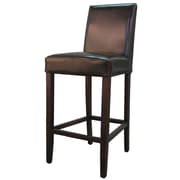 New Pacific Direct Hartford 29'' Bar Stool w/ Cushion; Brown
