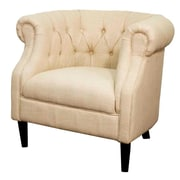 New Pacific Direct Luna Fabric Tufted Barrel Chair; Flax