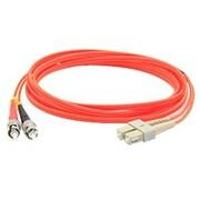 AddOn® 29.5' OM1 Multi-Mode Fiber Duplex ST to SC Male/Male Patch Cable, Orange